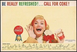 Vintage sports program COCA COLA Be Really Refreshed woman pic Fred Fixl... - $8.99