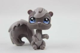 Littlest Pet Shop #484 Gray Squirrel w/ Swirls and Blue Rain Drop Eyes  LPS - $6.43