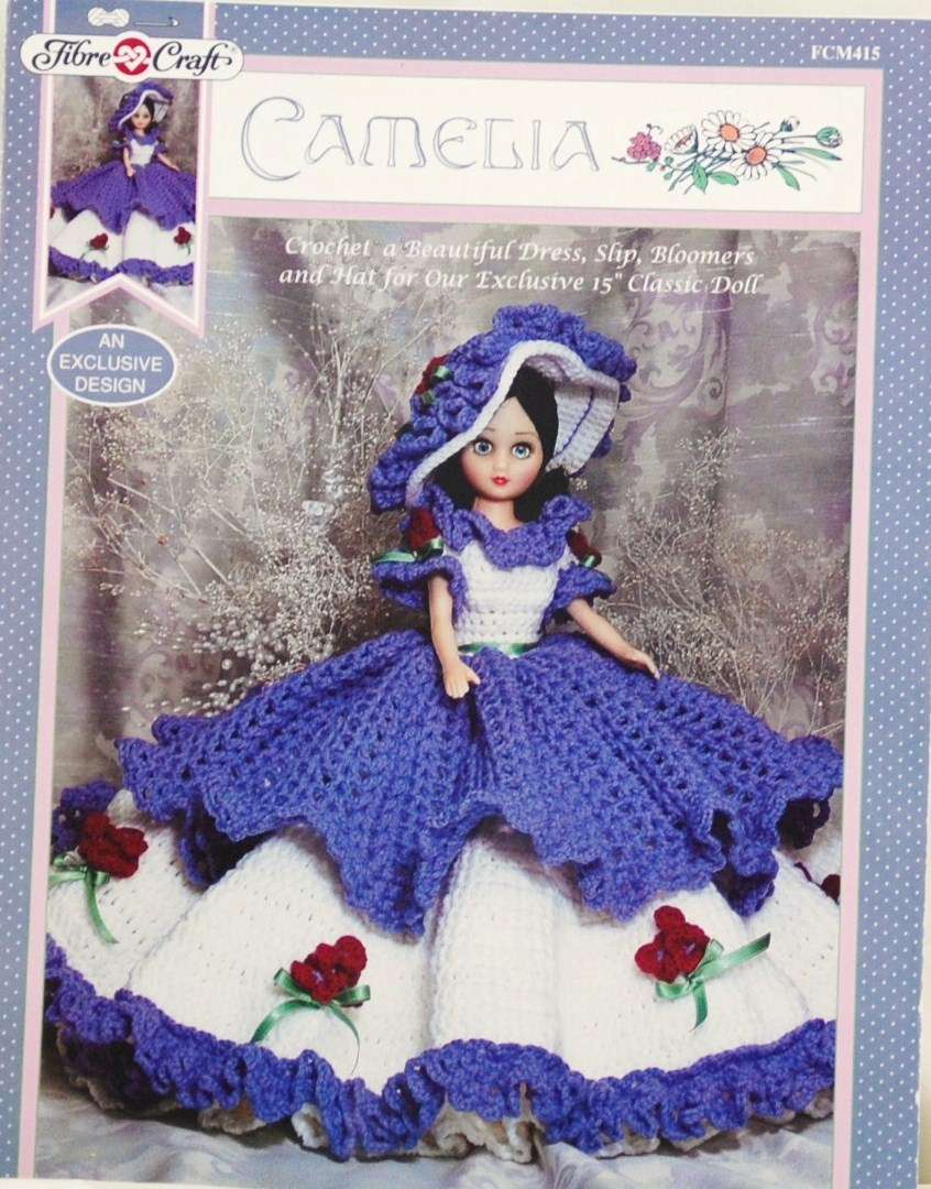 Fibre craft camelia crochet pattern anf 15 inch fashion for Fibre craft 18 inch doll