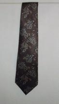 Oscar de la Renta Brown Paisley Tie 100% Silk Necktie 59 inches - $9.99