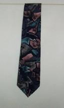 Oscar de la Renta Studio Blues Mauve Gray Geometric Tie Polyester Neckti... - $9.99