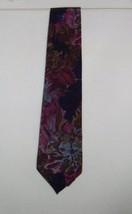 Oscar de la Renta Studio Blues Reds Browns Floral Tie 100% Polyester Nec... - $9.99
