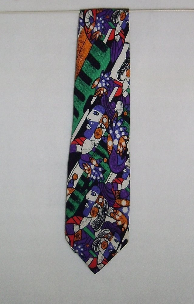 "Primary image for Picaso ""Wear a Masterpiece"" Tie 100% Silk Necktie 58 Inches Picasso Abstract"