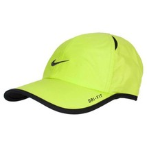 NEW! Neon Lemon [ADJUSTABLE] NIKE Tennis/Runner Feather Light DRI-FIT Hat - $98.88