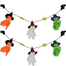 Ghosts Halloween Bunting Decorations Halloween Ghosts Wall Hanging Home ... - £8.34 GBP