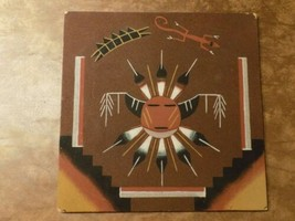 """Native American Navajo Sand Painting Picture Sun & Eagle Unframed 12"""" X 12"""" - $39.60"""