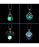 DIY Cage Glow In The Dark Moon Necklace Locket Pendant Glow Necklace For... - $9.88