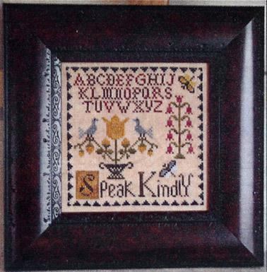 Primary image for Speak Kindly cross stitch chart Abby Rose Designs