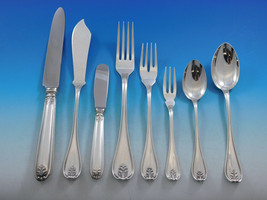 Laura by Buccellati Italy Sterling Silver Flatware Set 8 Service 64 pcs ... - $12,150.00