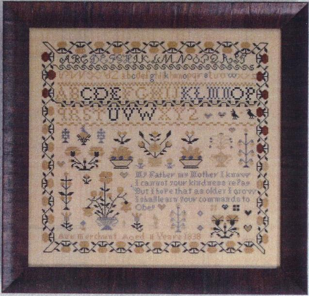 Primary image for Ann Merchant Reproduction Sampler cross stitch chart Abby Rose Designs