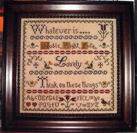 Primary image for Noble Right and Pure cross stitch chart Abby Rose Designs