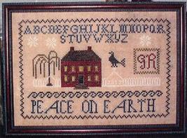 Christmas House Sampler cross stitch chart Abby Rose Designs - $7.20