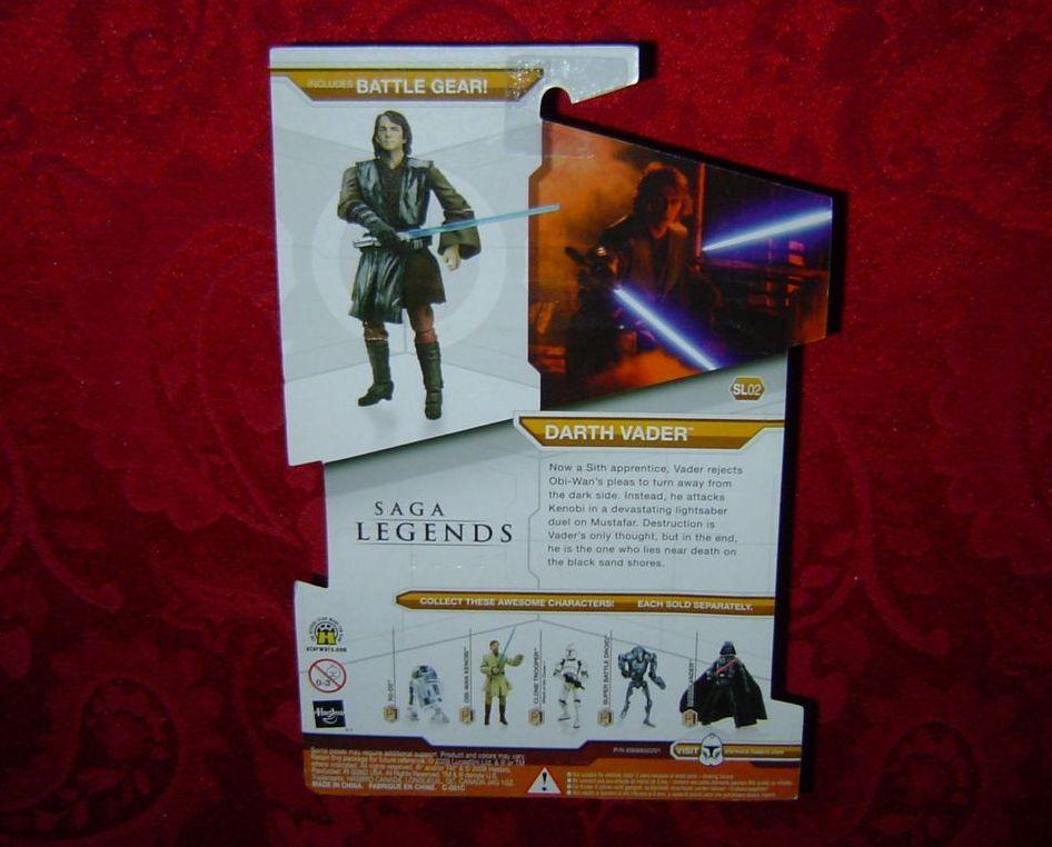 Star Wars Saga Legends Darth Vader Legacy Collection Hasbro SL02