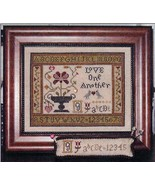 Love One Another cross stitch chart Abby Rose Designs - $7.65