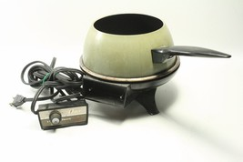Vintage Oster Electric Fondue 1970's Model 680 Avocado Green Made In USA... - £22.80 GBP