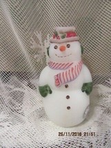 "Fenton Art Glass 2000 Frosty Friends Snowman 4"" Tall Signed - $65.00"