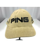 Ping TiSi Drive Isopur Golf Leather Strapback Adjustable Brown Baseball ... - $17.41