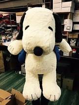 Nakajima Peanuts Plush Hug Hug Snoopy Mocha Stuffed Doll 2L Size from Ja... - $162.68