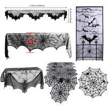 1pcs Halloween Decoration Horror Props Black Lace Spiderweb Web Tableclo... - $18.90