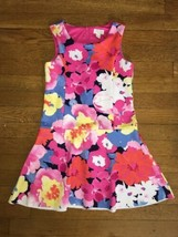 ! the Childrens Place pink floral print dress medium 8  - $8.03