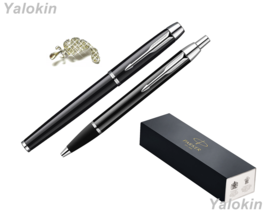 Black with Chrome Trim Finish Luxury Gift Set IM Ballpoint & IM Rollerba... - $88.19