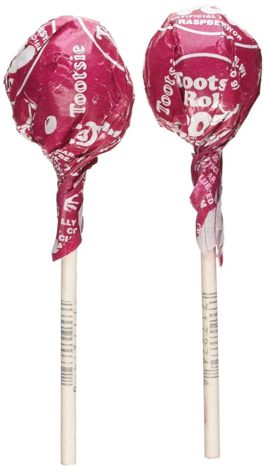 Red Raspberry Tootsie Pops 30 Pops - Hard Candy & Lollipops  Red Tootsie Pop