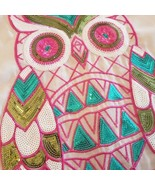 Women's Sequin and Crochet Sheer Owl Tank Medium The Classic - $22.23
