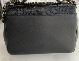 AUTH NEW CHANEL BLACK RARE PYTHON AFFINITY FLAP BAG  2 WAY HANDLE BAG RECEIPT  image 3