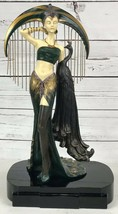 Veronese Erte Reproduction Resin Sculpture Le Soleil Woman With Peacock ... - $383.83