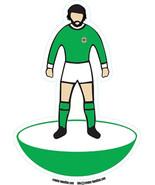 George Best vinyl Window sticker Northern Ireland football 15x10cm table... - $4.39