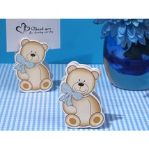 Cute and Cuddly Blue Teddy Place Card Holder - 96 Pieces - $80.95