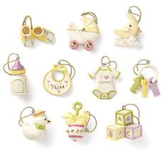 Lenox Baby Memories Mini Ornament 10 Piece Set NEW (No Tree) - $45.90