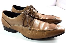 Kenneth Cole Reaction Oxfords Mens Size 8 M Camel Brown Leather Shoes - $64.30