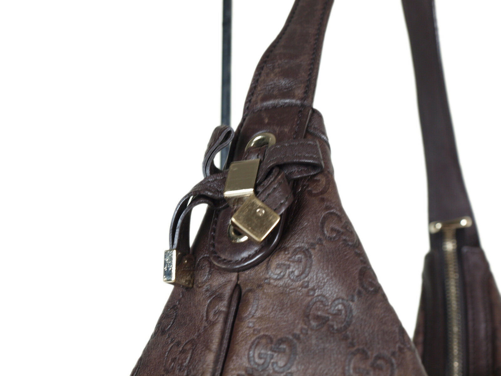 Auth GUCCI Guccissima Leather Dark Brown Shoulder Bag GH2155  image 3