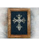 Inspirational Framed Silver Cross 5x7 - $16.99