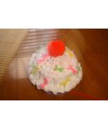 Hand crocheted vanilla cupcake beanie/cap/hat - $10.00