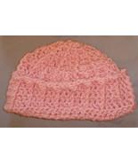 Crochet hat pink - $10.00