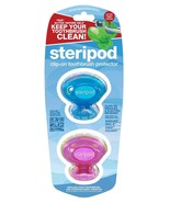 Steripod Clip-on Toothbrush Protector 2 Pk Pink/Blue - $10.49