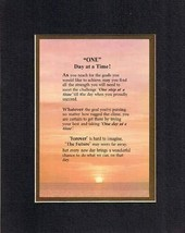 Touching and Heartfelt Poem for Inspirations - One Day at a Time Poem on 11 x 14 - $19.95