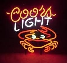 "Coors Light Crab Beer Club Bar Neon Light Sign 17"" x 14"" - $599.00"