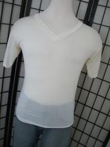 Wintersilks v-neck paper thin adult tee shirt large l - $19.95