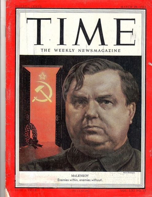 Primary image for Time Magazine 1953, March 23,  Malenkov,  War in Korea