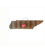 Galvanized State of Tennessee with a Red Magnet Heart - $46.53