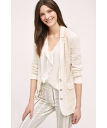 NWT ANTHROPOLOGIE LUPE IVORY LACE BLAZER by CARTONNIER XS - $94.99