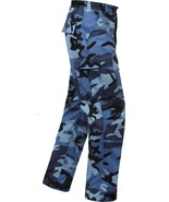 Sky Blue Camouflage Military BDU Cargo Bottoms Fatigue Trouser Camo Pants - $27.99 - $31.99