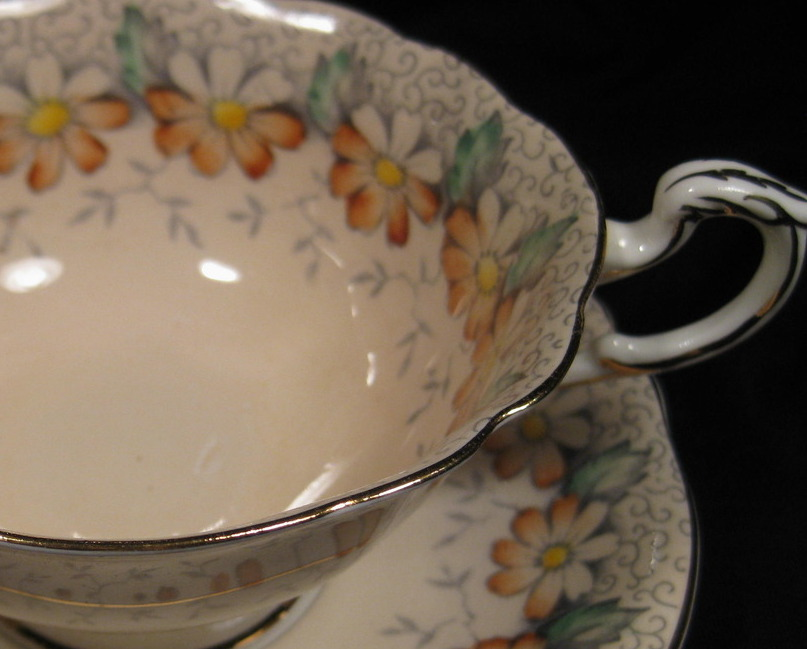 "Primary image for Paragon Tea Cup & Saucer ""Margot"" pattern"