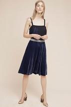 New Anthropologie Covo Velvet Skirt by Maeve RETAIL $128 Blue, SIZE 4 - $53.46