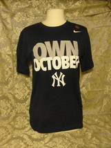 New York Yankees Own October blue size small T-shirt made by Nike World Series - $28.50