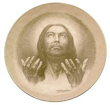 W.S. George Lo I Am With You Portraits of Christ Jose Fuentes plate JH139 - $38.21