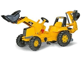 rolly toys CAT Construction Pedal Tractor Backhoe Loader Front and Youth... - $302.04